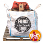 bulk bag of kiln dried logs, firelighters and kindling deal