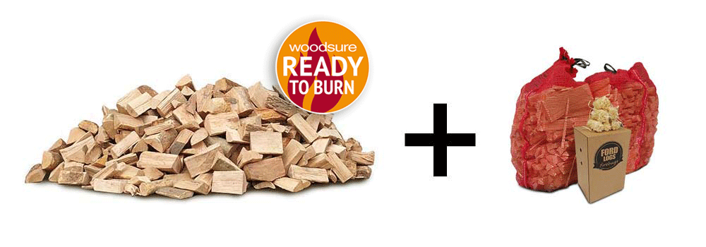 kiln dried logs, kindling and firelighters deal