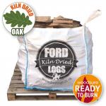 Bulk bag of kiln dried oak