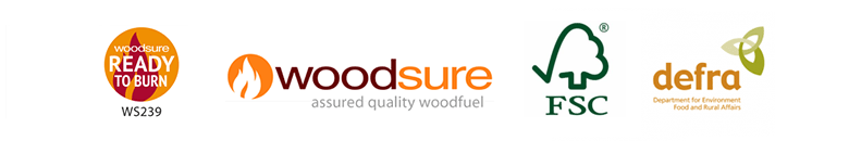 DEFRA, Woodsure, FSA and HETAS approved logs